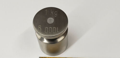 1kg 1000g Stainless Steel Scale Calibration Weight. shelf g6 in case