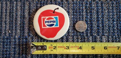 "Rare PEPSI Big Apple New York 3 Inch 3"" Pinback Button   Extremely Scarce HTF"
