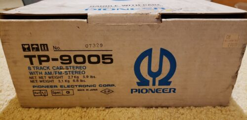 Pioneer TP-9005 8 Track Car Stereo with AM/FM Stereo