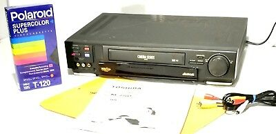 Toshiba Cinema (Toshiba M750 CINEMA SERIES 4-Head HiFi VHS VCR + Extras Last on ebay!)