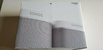 NEW Sonos Play:1 Wi-Fi Speaker - White, 2-pack