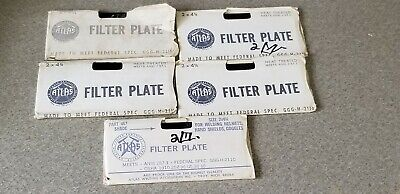 5 Vintage Atlas Welding Lens Filter Plates 2 X 4-14 Shade 14 Nos Lot Of 5