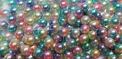 Pastel Pink Blue Yellow Green 10pcs-4mm PEARL Floating Locket Charms USA Seller (Blue Pastel)