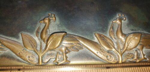 Jorge Bautista Bronze Trinket/Jewelry Box. Art Nouveau. Peacocks.