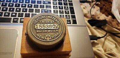 Vtg Neptune Meter Co. Trident 1553802 Brass Water Meter Stand