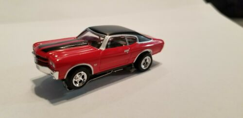 1970 Chevelle SS Red/Black AW  HO slot car T-jet Custom Wheels