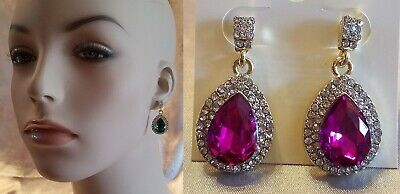 BLING TEARDROP CRYSTAL RHINESTONE 1.5