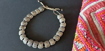 Old Tibetan Local Silver Bracelet  …beautiful accent piece