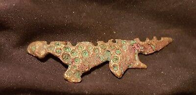 Super rare Exquisite Viking Salamander copper alloy pendant/amulet found UK L42h