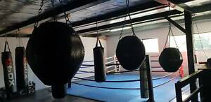 Freestanding Boxing Bag Rack with Bags