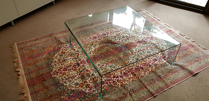 Quality glass frameless coffee table