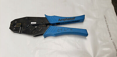 Amphenol Ctl-4 Ratcheting Hand Crimp Crimping Tool