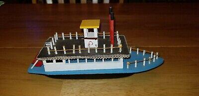 Vintage Mark Twain Wooden Riverboat Hannibal, Missouri