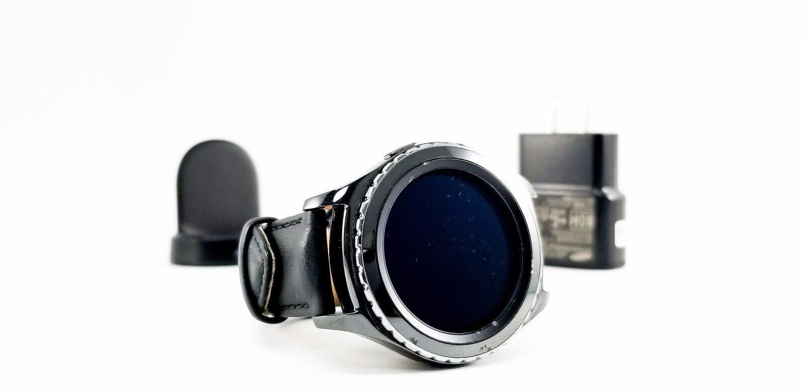 $105.99 - SAMSUNG GALAXY GEAR S2 CLASSIC BLACK SM-R735A SMARTWATCH AT&T Unlocked GSM