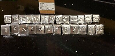 American Metalcraft Mini Stainless Steel Number Tents Nos. 1-25 - New