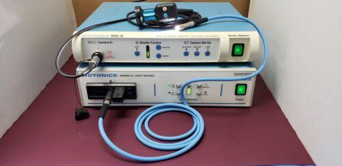 DYONICS ED-3 Digital 3-Chip Camera Processor w Fiber Cable & Xenon Light Source