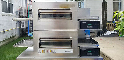 Double Lincoln Impinger 1100 Series Pizza Owen 2 Owens Electric With Table