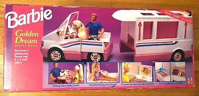 BARBIE GOLDEN DREAM MOTOR HOME VEHICLE MATTEL 1992 NRFB SEALED!
