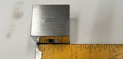 .850 Ellstrom Square Steel Gage Gauge Block.
