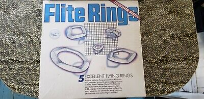 Flite Rings Paper Origami Frisbees kit Weiss flying disks NIB vintage fly toy
