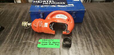Thomas Betts Tbm15pf 15-ton Insulated Remote Hydraulic Crimp Head Wbox Lot4