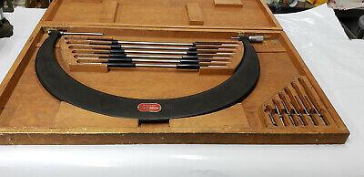 Starrett 724 18-24 Interchangeable Outside Micrometer Wstandards In Box.