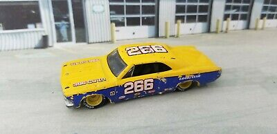 2012 Hot Wheels Racing Stockcar '66 Chevy Chevelle 266 Blue Real Rider tires