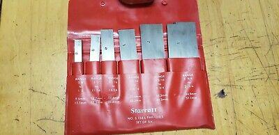 L. S. Starrett S154l Adjustable Parallel Set Of Six