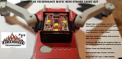 DJI MAVIC MINI STROBE SPOTLIGHT KIT WITH CUSTOM MOUNT BY FIREHOUSE TECHNOLOGY