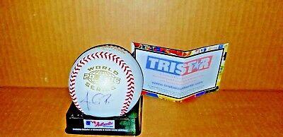 ANTHONY REYES - Autograph 2006 World Series Baseball - CARDINALS  Tri Star COA
