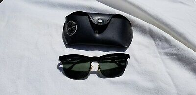Ray Ban's W0757 Black Sunglasses Black Lenses & Case No Scratches. Best