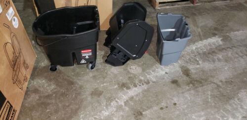 Rubbermaid Commercial Wavebrake Down Press Mop Bucket
