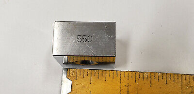.550 Ellstrom Square Steel Gage Gauge Block.