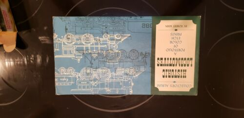 Historic Locomotives Color Etch Foil Prints Set of 4 by Robert Kern Vintage