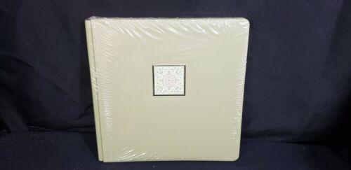 NEW Creative Memories Scrapbook Album Green Kaleidescope 12x12 +white Pages