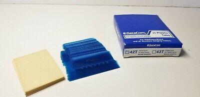 Data Com 25 Hanging File Folder Plastic Tabs Blue