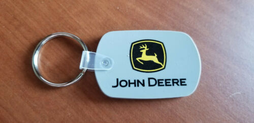 JOHN DEERE RUBBER CONSTRUCTION DIVISION KEY FOB - EXTREMELY RARE