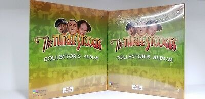 Lot of 2 The Three Stooges Collectible Trading Card Binder With Promo Cards