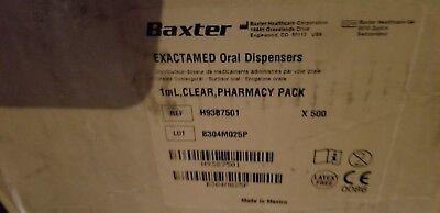Baxter Baxa Exactamed Oral Medicine Dose Syringe Dispenser 1cc1ml W Cap 500