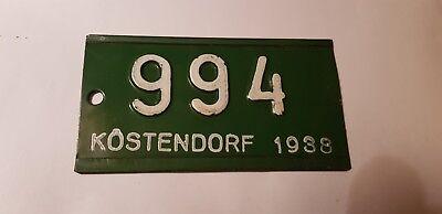 1 Fahrradschild Kennzeichen,Nummernschild,Autoschild,License Plate Österreich