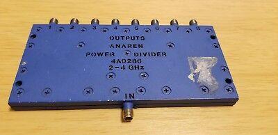 Anaren 4a0286 8-way Power Splitter 2 - 4 Ghz 1-input To 8-outputs Sma Female