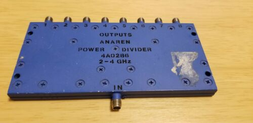 ANAREN 4A0286 8-WAY POWER SPLITTER 2 - 4 GHz 1-INPUT TO 8-OUTPUTS SMA FEMALE