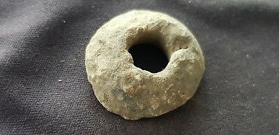 Lovely little Viking spindal whorl in uncleaned condition found in England L363