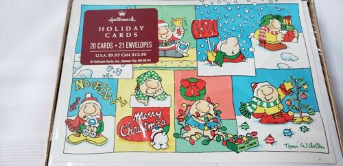 1997 ZIGGY & Friends Hallmark cards 20 new Christmas cards in original box