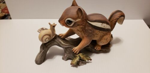Chipmonk  Masterpiece Porcelain  Figurine by Homco