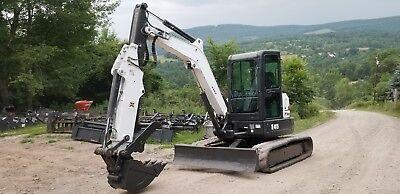 2013 Bobcat E45 Excavator Low Hrs Cab Ac Hydraulic Thumb Extendahoe