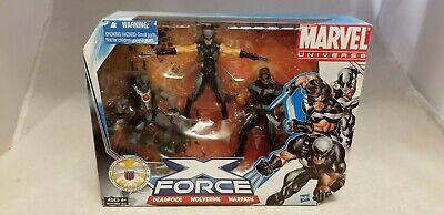 "MARVEL UNIVERSE 3.75"" X-FORCE SET DEADPOOL,WOLVERINE,WARPATH"