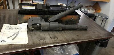 Burndy Y750-2 Revolver Hypress Hydraulic Crimper Tool Wmetal Case No Dies