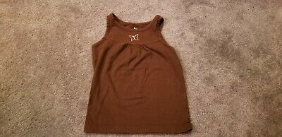 Girls circo brown tank top with butterfly. Size 4/5 Brown Girls Tank Top