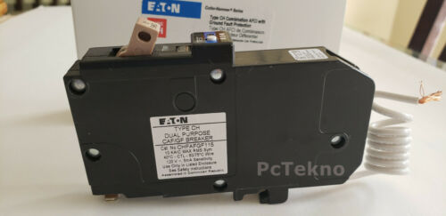 Cutler Hammer 15Amp 1 Pole Type CH Circuit Breaker Arc/Ground Fault CHFAFGF115